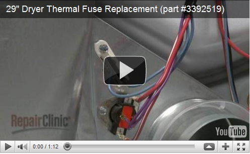 How to Replace Thermal Fuse in Dryer | Home Parts & Repair